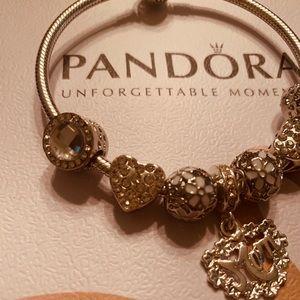Pandora bracelet with free charms